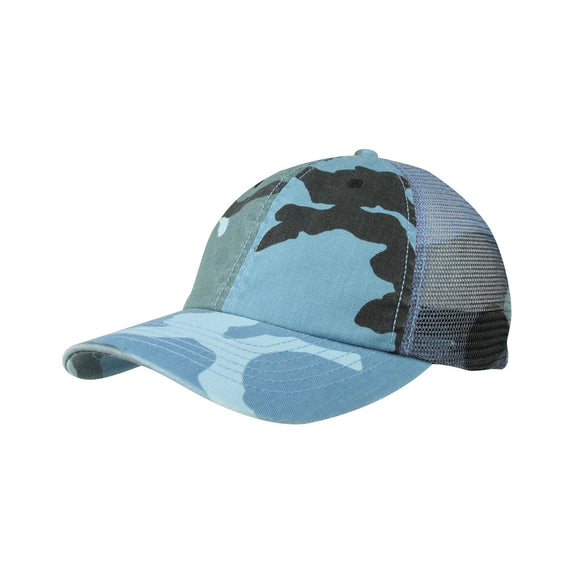 Enzyme Washed Camouflage Mesh Cap