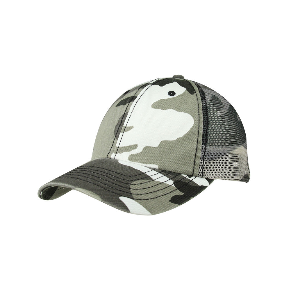 6f24010c17bd5 Enzyme Washed Camouflage Mesh Cap  Enzyme Washed Camouflage Mesh Cap ...