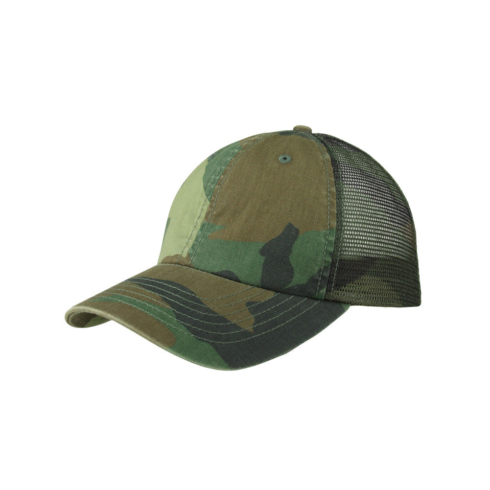 5febcbfc0ccb1 Enzyme Washed Camouflage Mesh Cap – TopHeadwear