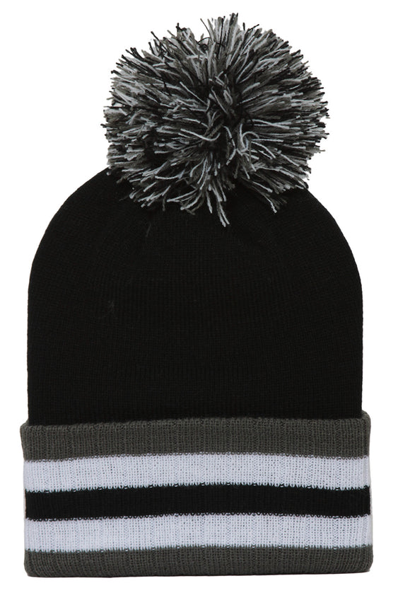Winter Cuffed Beanie w/ Pom