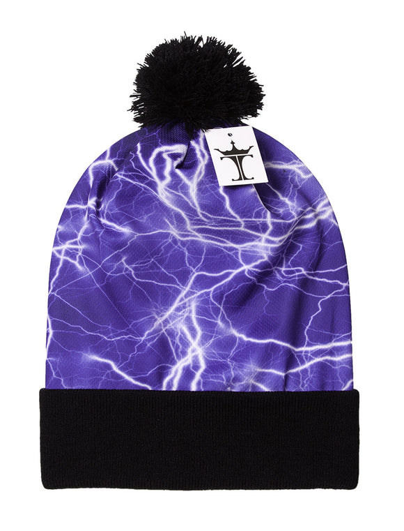 TopHeadwear Sublimation Cuffed Beanie - Lightening 800