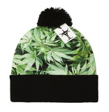 TopHeadwear Sublimation Cuffed Beanie - Marijuana