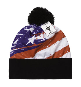 TopHeadwear Sublimation Cuffed Beanie - USA Paintbrush