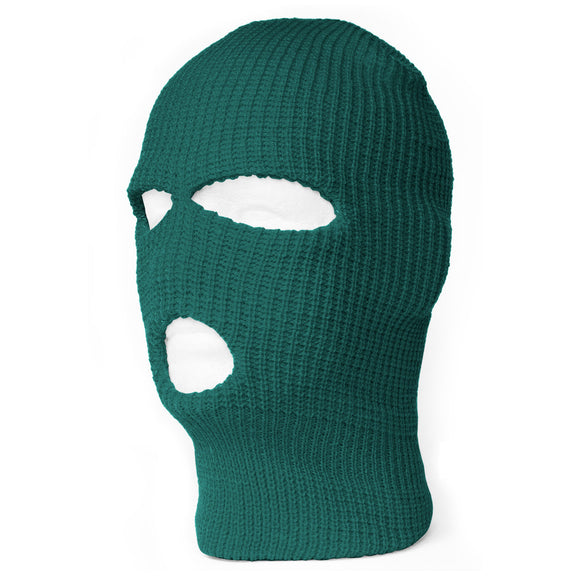 TopHeadwear's 3 Hole Face Ski Mask, Emerlad Green