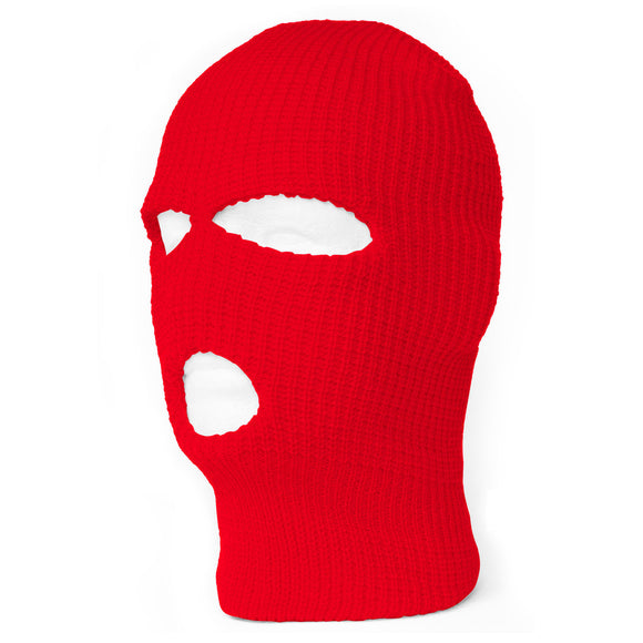 TopHeadwear's 3 Hole Face Ski Mask, Red