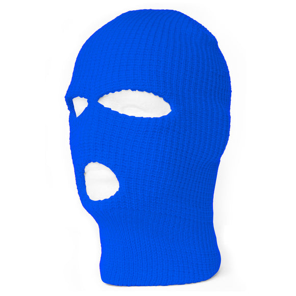 TopHeadwear's 3 Hole Face Ski Mask, Royal