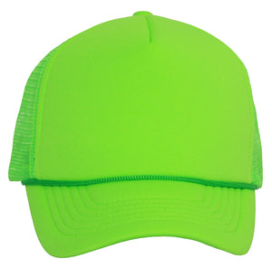 Structured Neon Trucker Mesh Hat