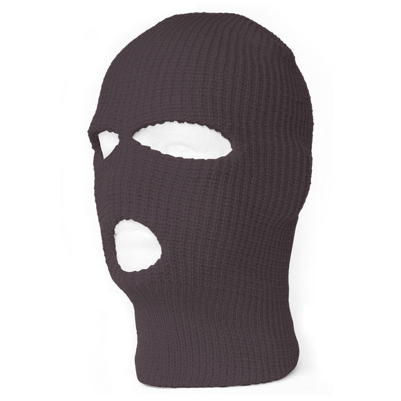 TopHeadwear's 3 Hole Face Ski Mask, Charcoal