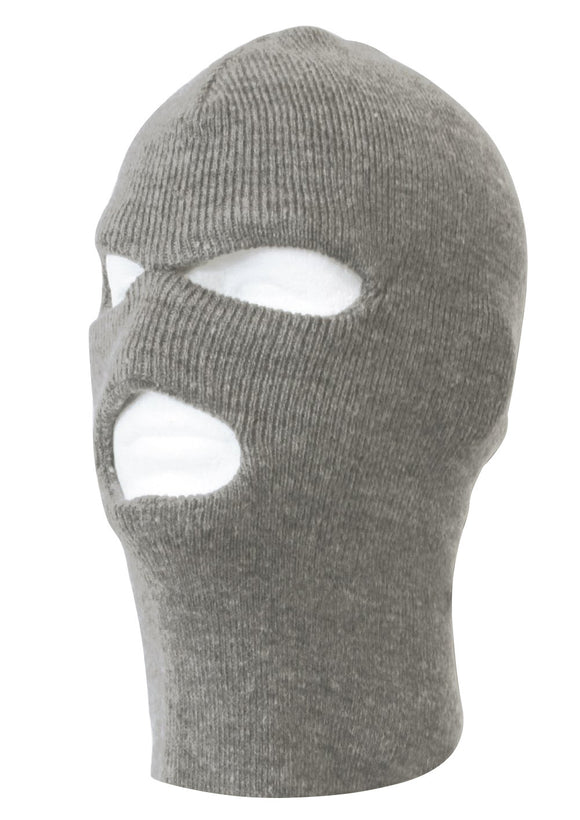 TopHeadwear's 3 Hole Face Ski Mask, Heather Grey