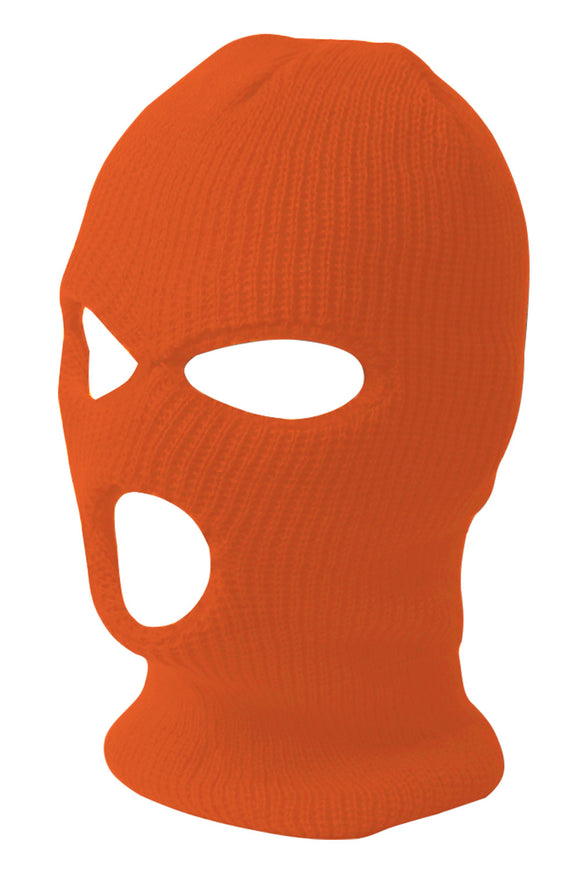 TopHeadwear's 3 Hole Face Ski Mask, Orange