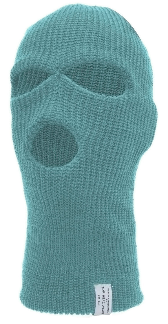 TopHeadwear's 3 Hole Face Ski Mask, Sky Blue
