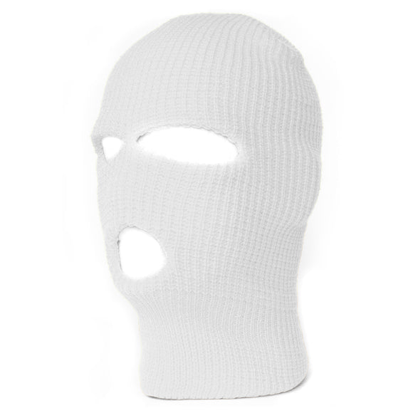 TopHeadwear's 3 Hole Face Ski Mask, White