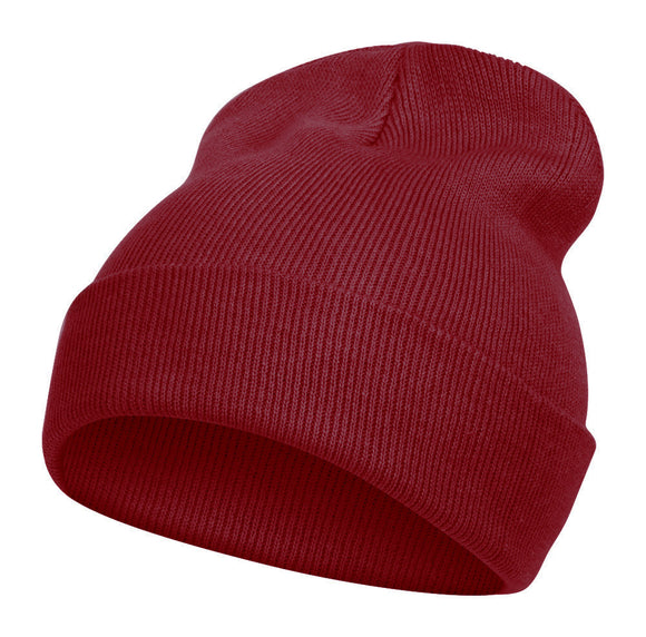 TopHeadwear Solid Color Long Beanie, Maroon