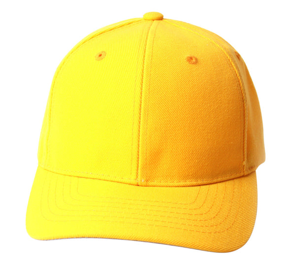 TopHeadwear Solid Yellow Adjustable Hat