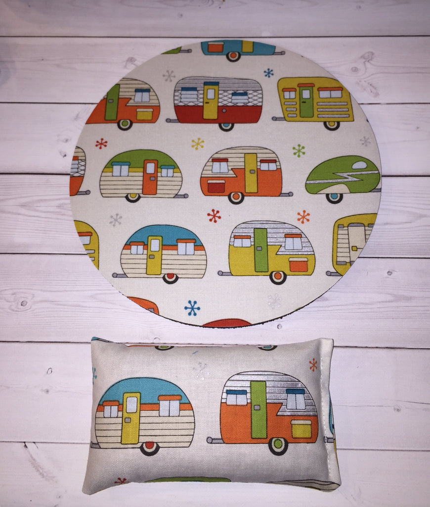 camper camping rv desk set - mouse pad and wrist rest - mousepad set coworker gift Desk cubical Accessories