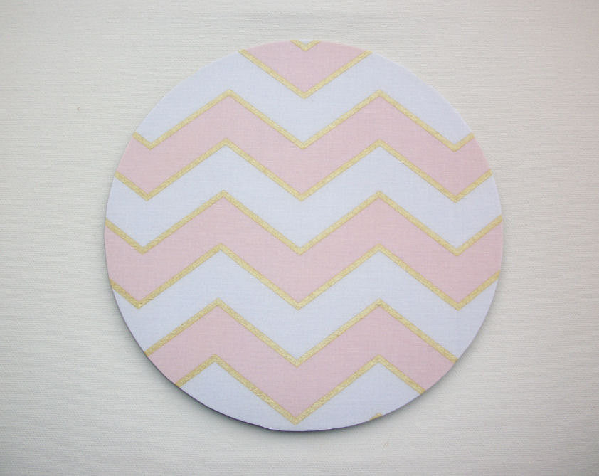 Mouse Pad mousepad / Mat - round or rectangle Shiny gold pink chevron - Computer Accessories Geekery Custom Desk Coworker Gifts Office Gifts - In His Name
