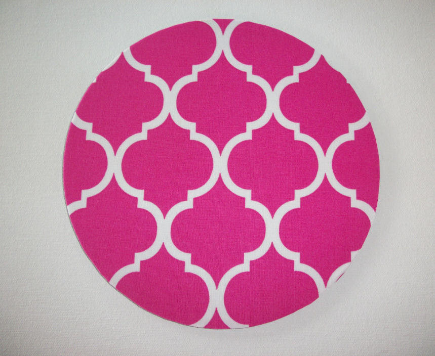 Mouse Pad mousepad / Mat - Rectangle or round - Trellis in pink home office decor coworker gift - In His Name