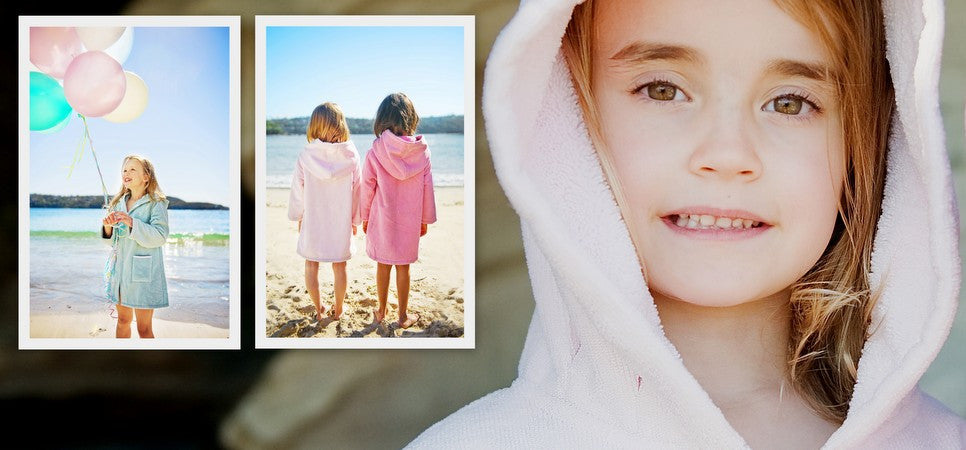 Beach Robes Duck Egg/Turquoise, Raspberry, Light Pink