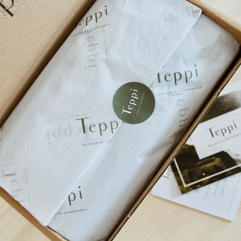 Beautiful gift packaging with custom tissue lining