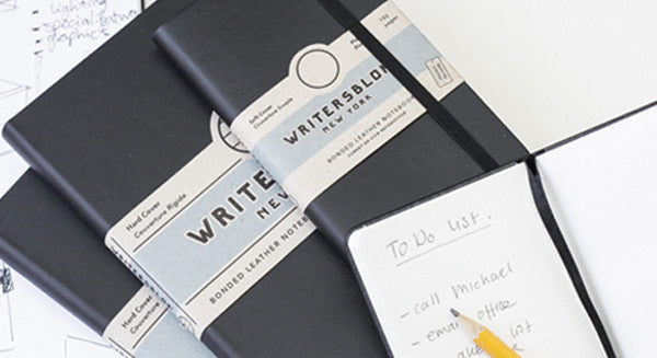 Writersblok: Simple, Stylish & Durable Black Leather Notebooks