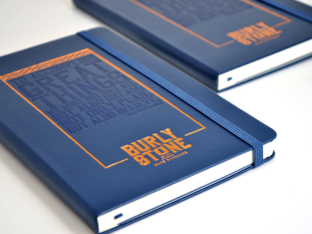 Burly Stone's Handsomely Branded Moleskines
