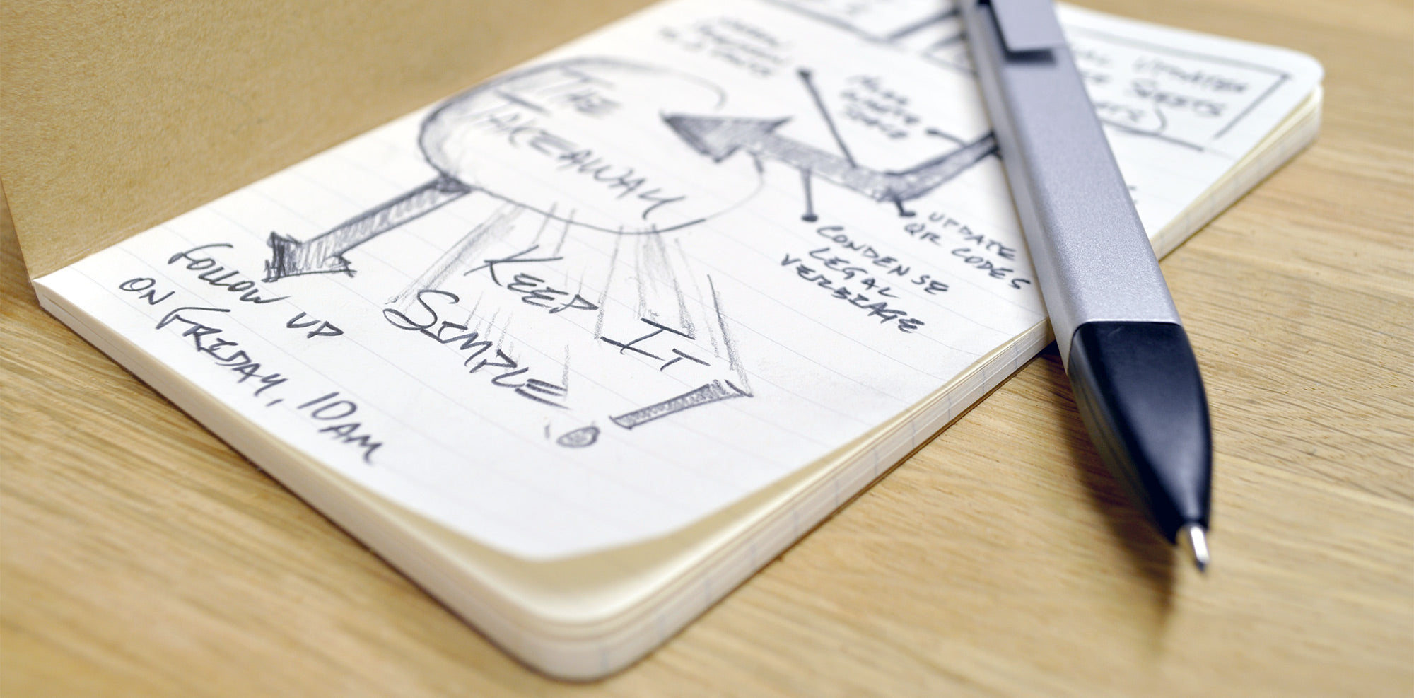 keep your notes simple and concise with a pocket-size notebook
