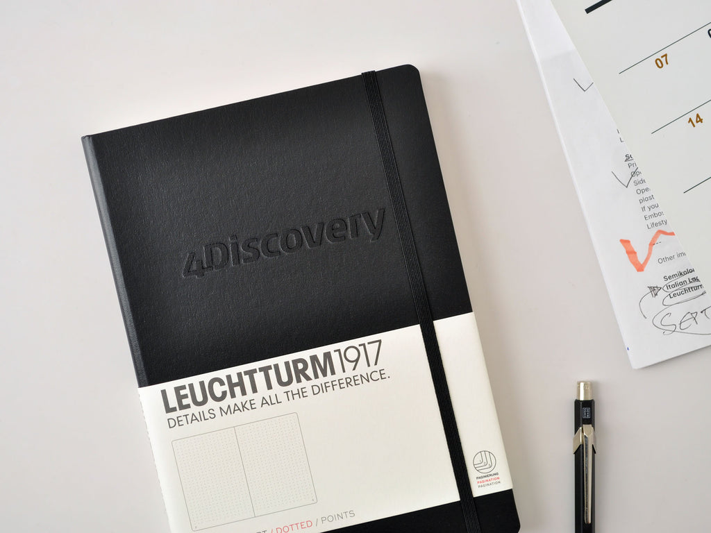 Leuchtturm1917 hardcover notebook with custom embossed logo imprint