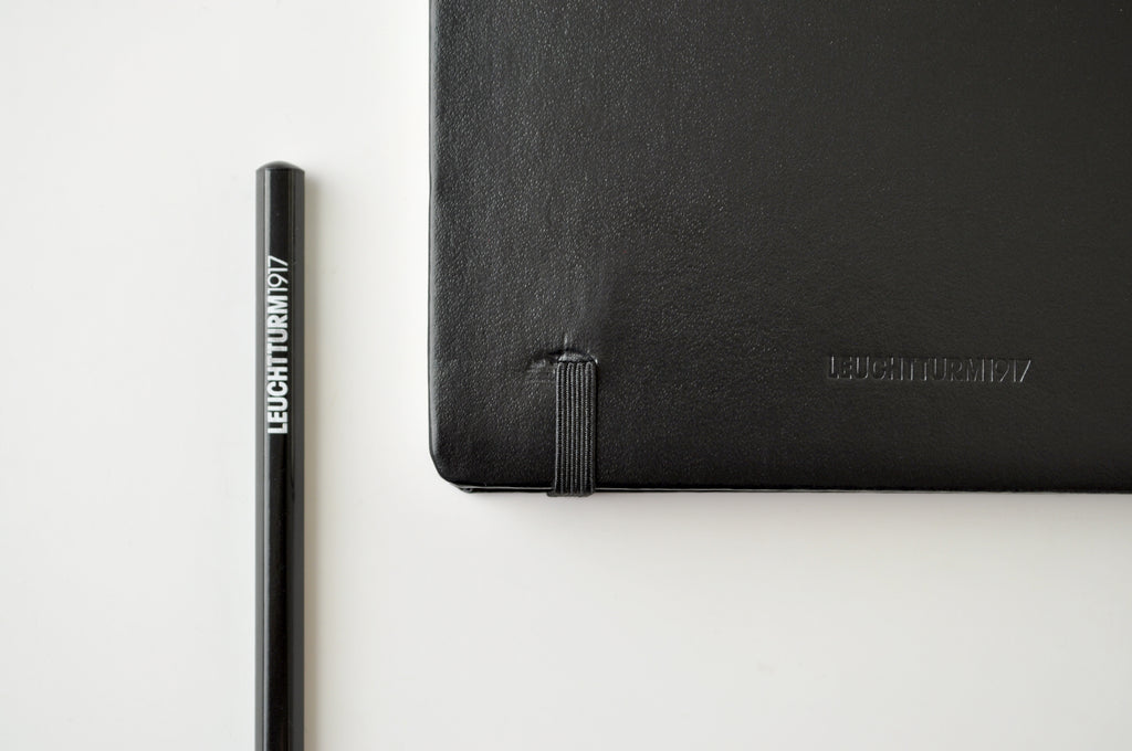 Leuchtturm1917 durable hardcover material and elastic band