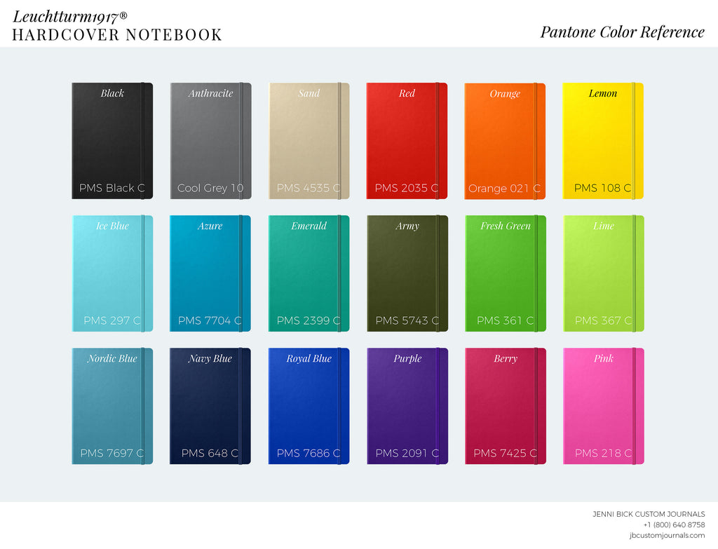 Leuchtturm1917 Pantone color reference sheet