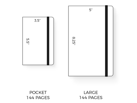 Moleskine Weekly Notebook Sizes
