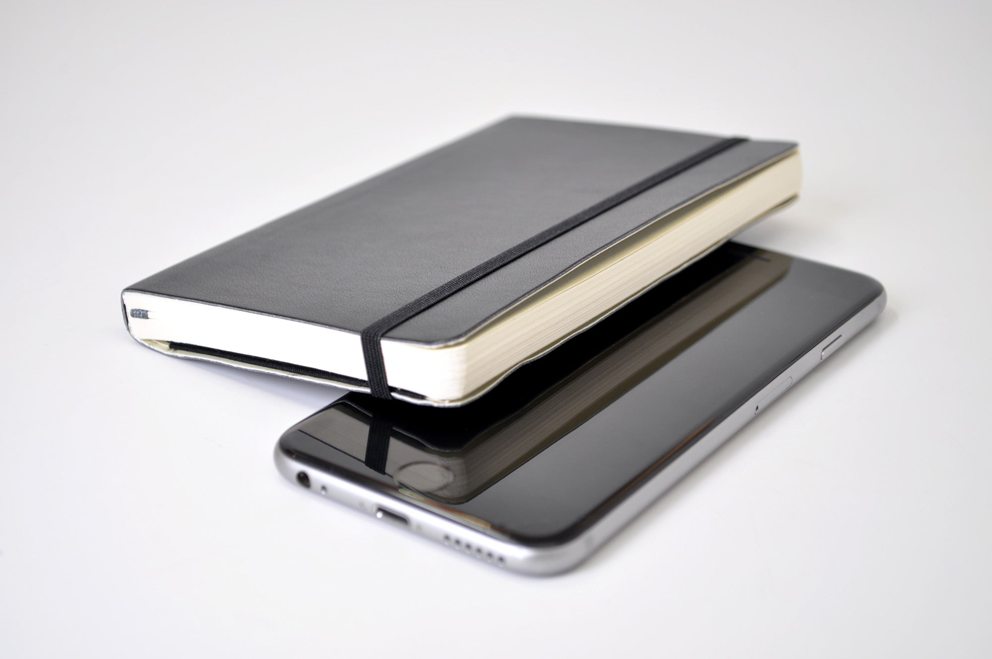 pocket Moleskine softcover and iphone smartphone size
