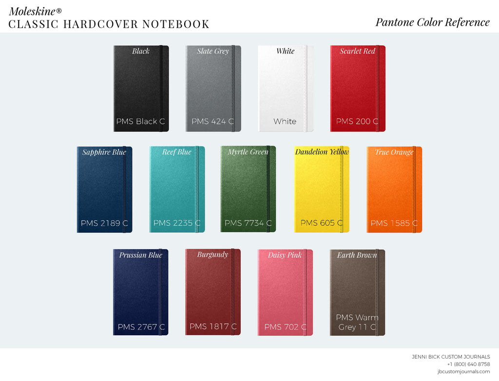 Moleskine classic hardcover pantone color reference chart