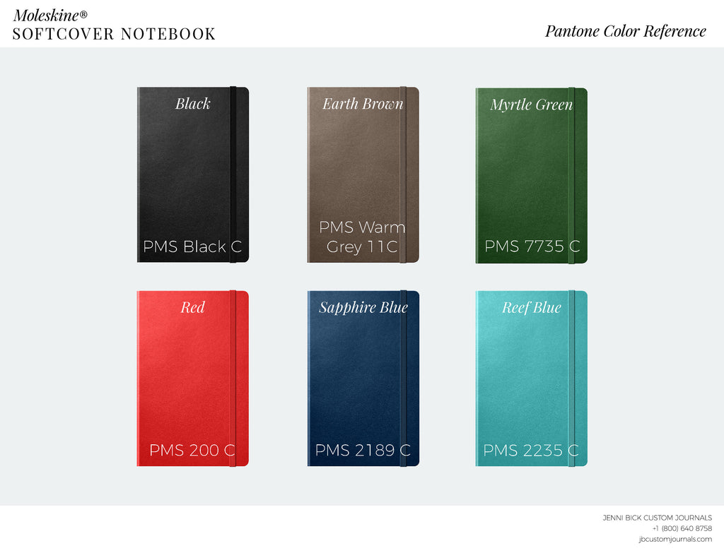 Moleskine classic softcover pantone color reference chart