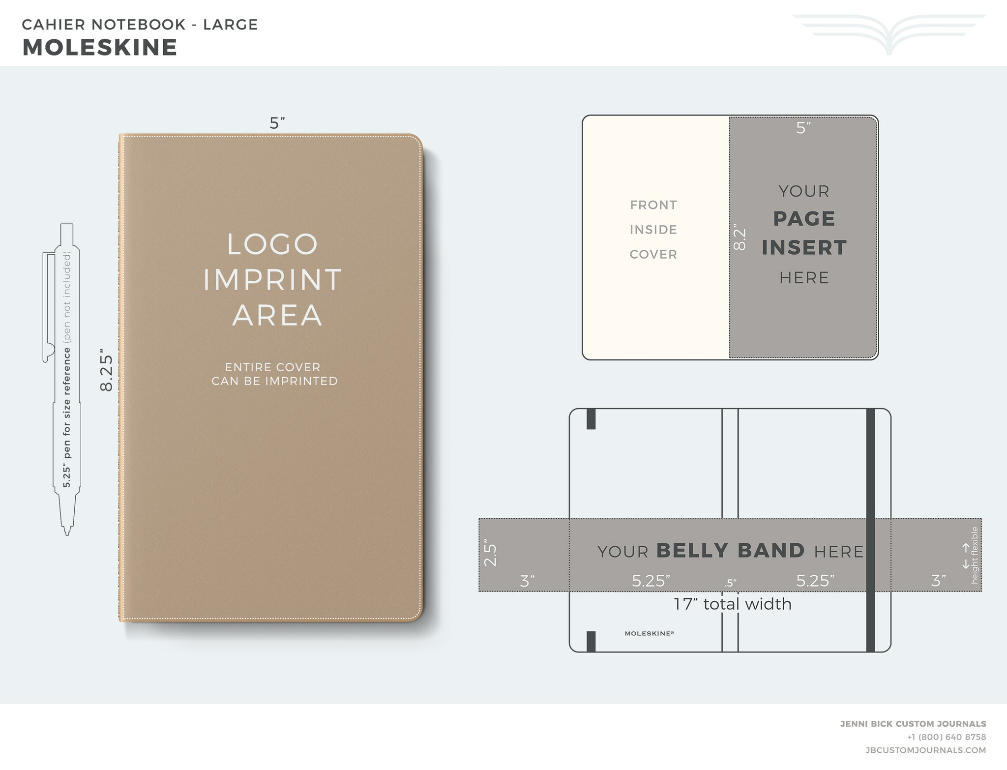 Moleskine Cahier Large Template