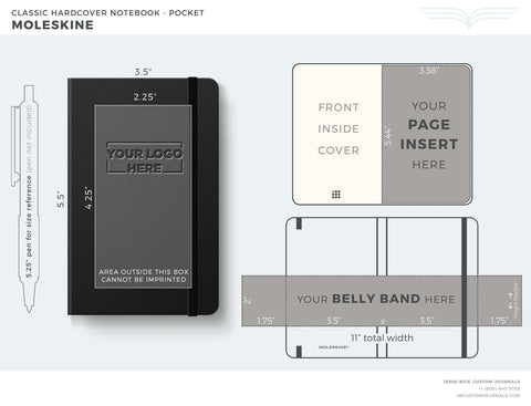 Moleskine Pocket Template
