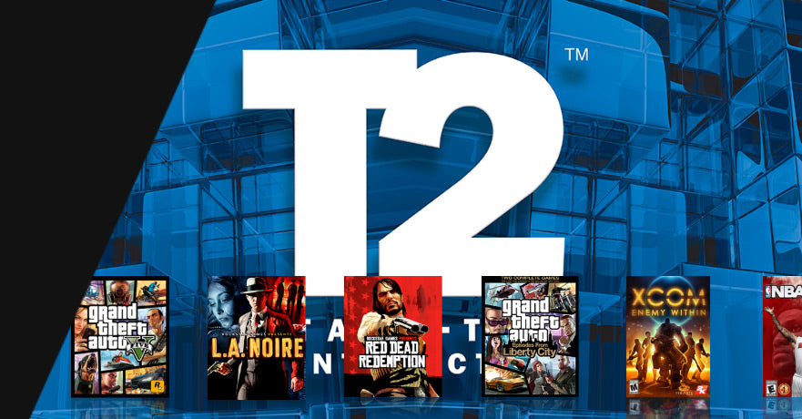 Take-Two Interactive logo and gaming portfolio