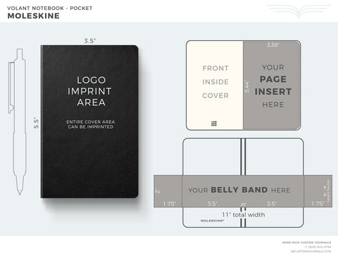 Moleskine VOlant Pocket Template