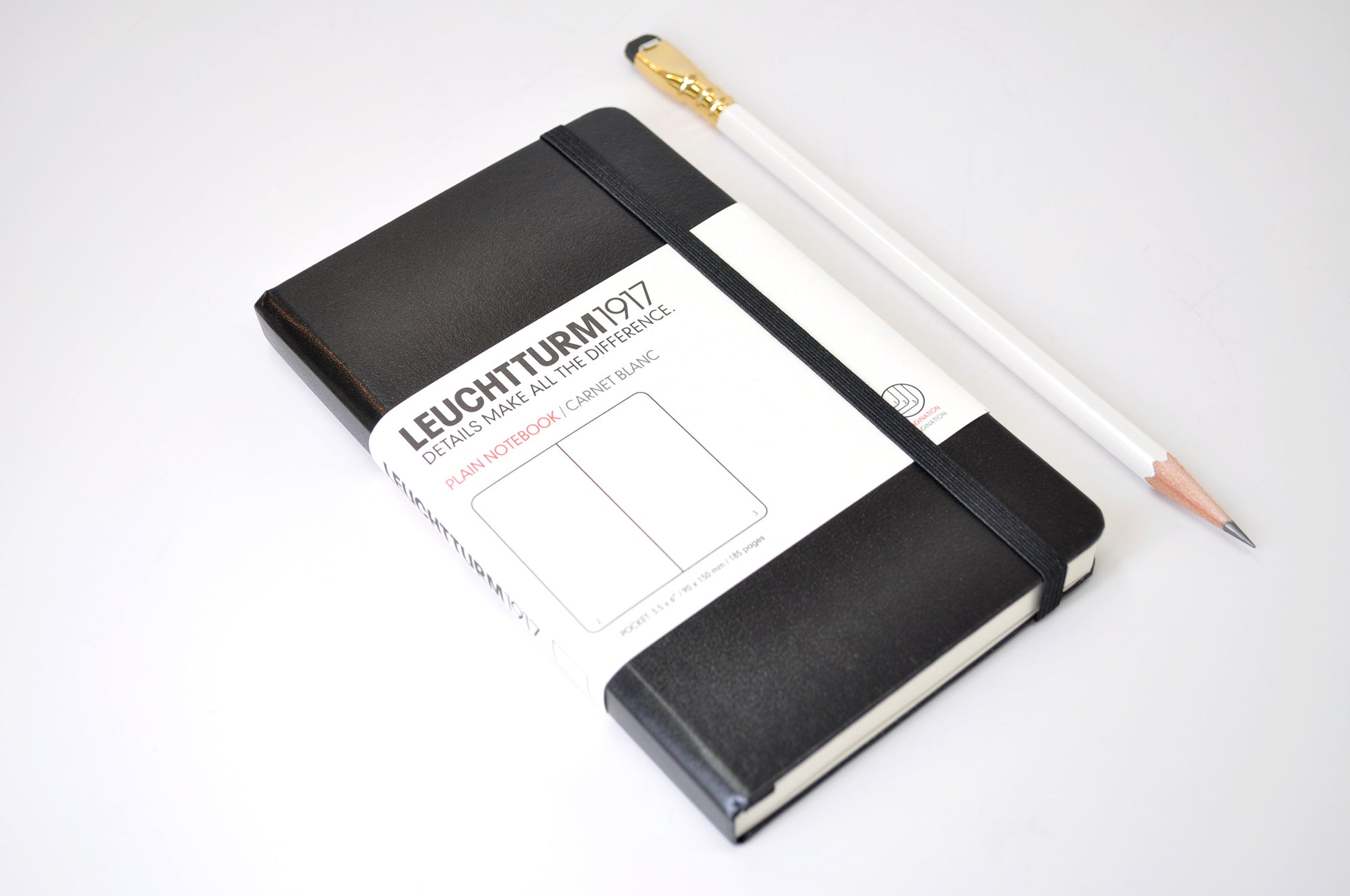 pocket-size Leuchtturm1917 notebook, plain unlined pages
