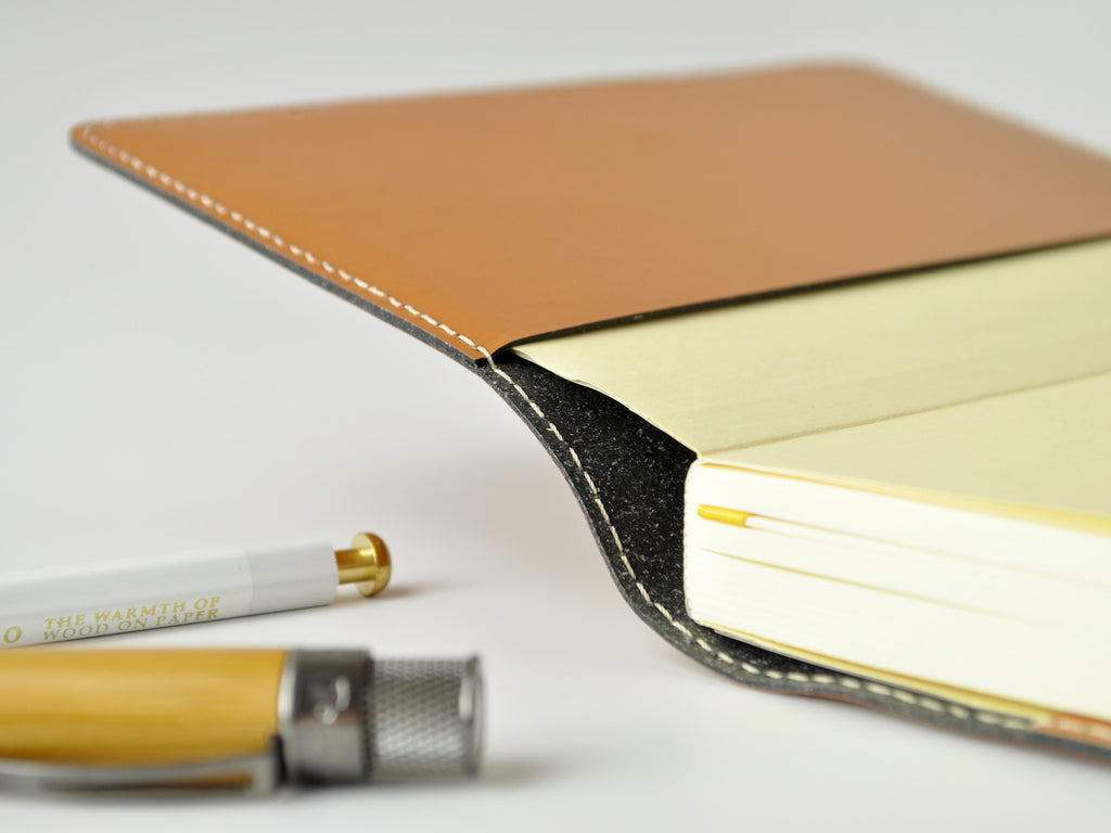 Bella Refillable Recycled Leather Journal - British Tan