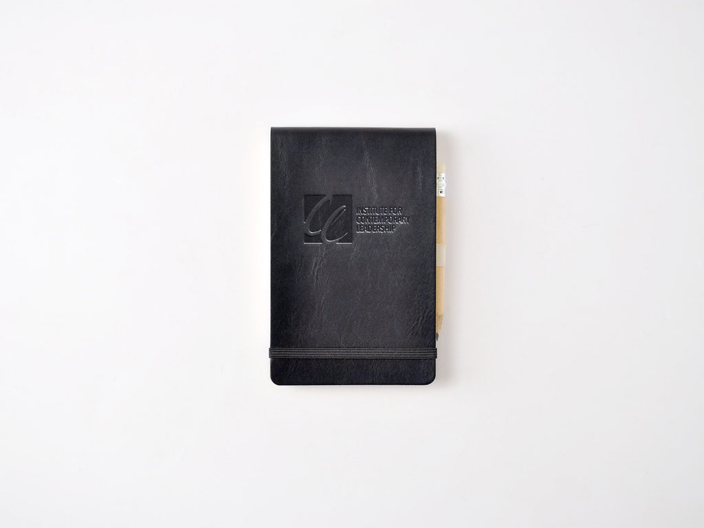 Chelsea Italian Leather Reporter Notebook - Black