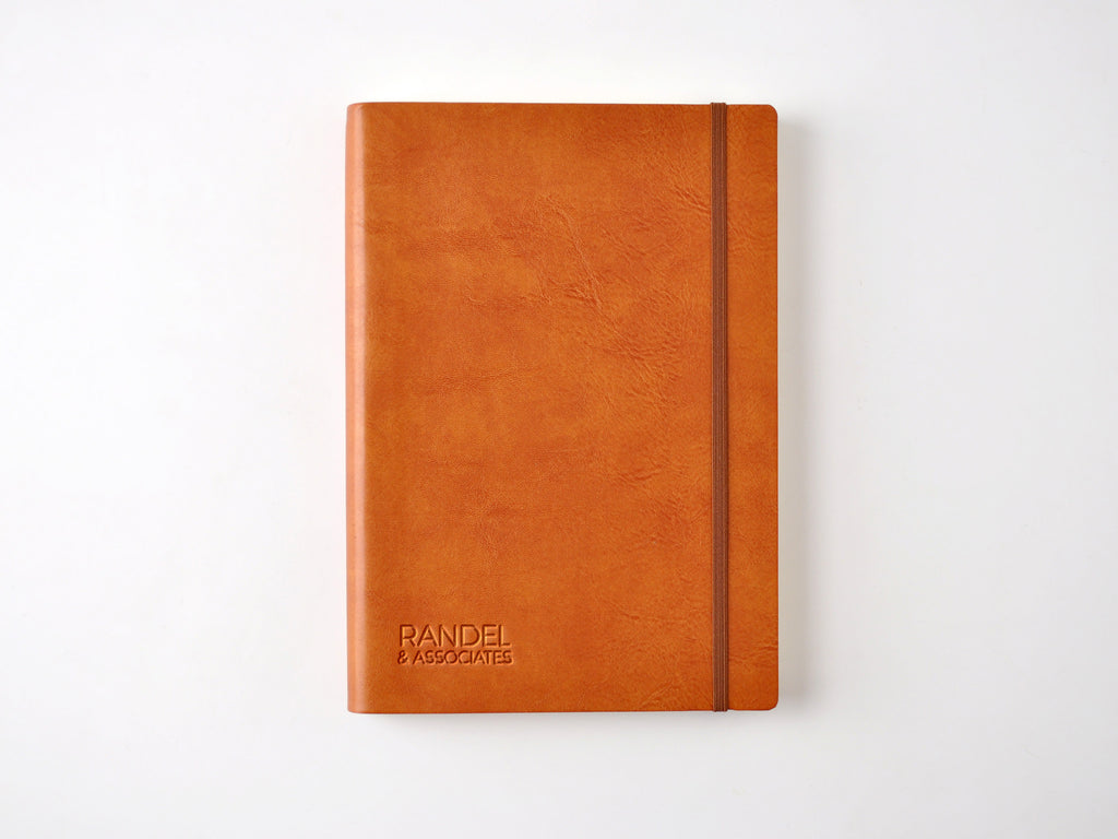 Chelsea Italian Leather Notebook - Tan