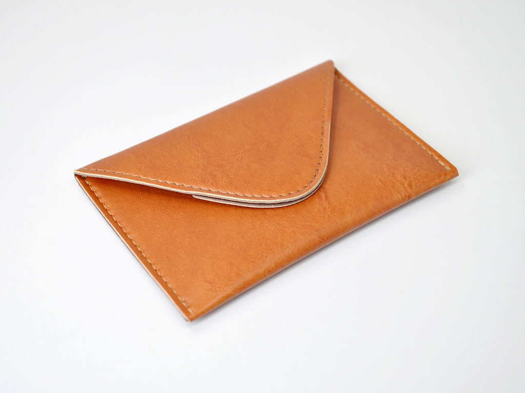 Chelsea Italian Leather Business Card Case - Tan