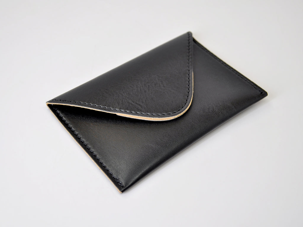 Chelsea Italian Leather Business Card Case - Black