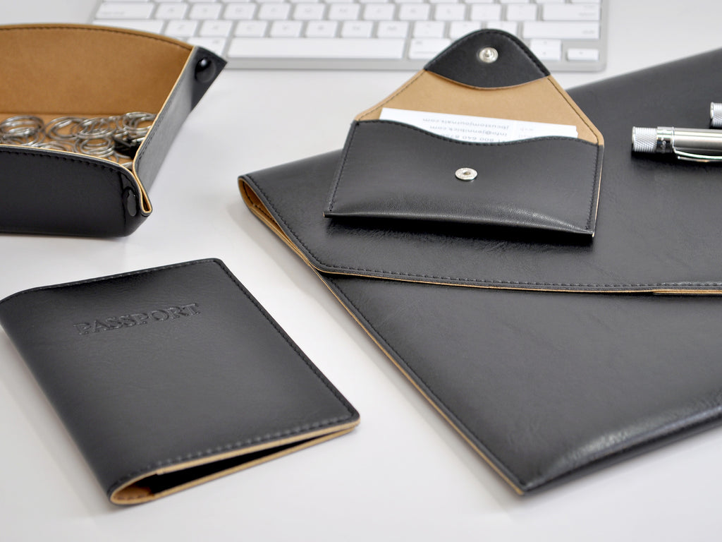 Chelsea Italian Leather Notebook - Black
