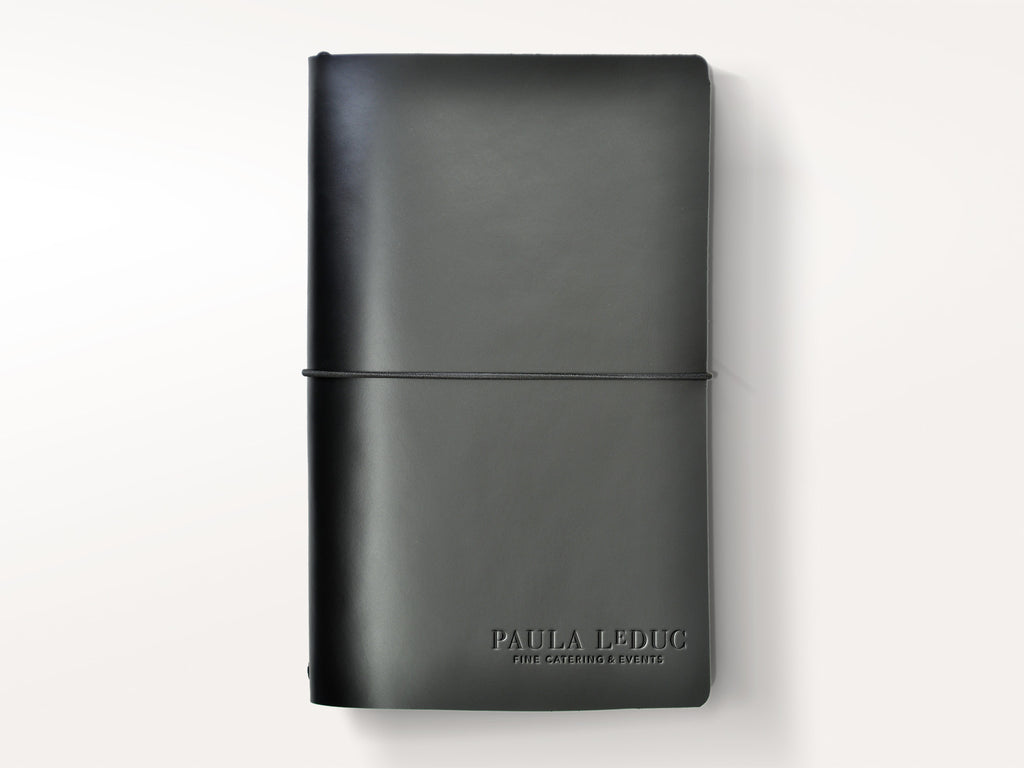 Around The World Refillable Leather Journal - Black