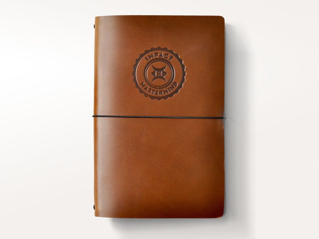 Around The World Refillable Leather Journal - Brown
