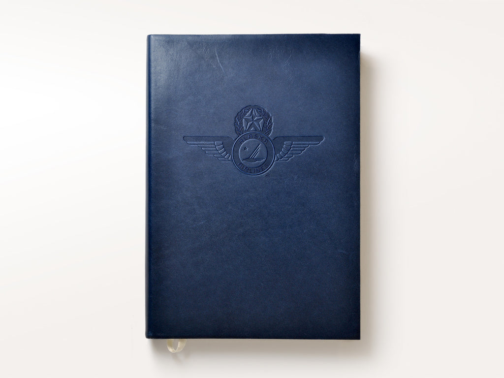 Manhattan Navy Blue Leather Journal