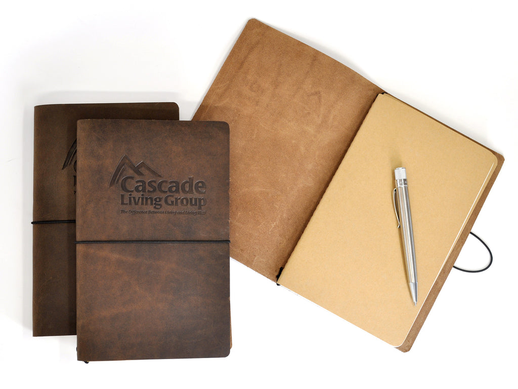 Around The World Refillable Leather Journal-Notebooks-JB Custom Journals