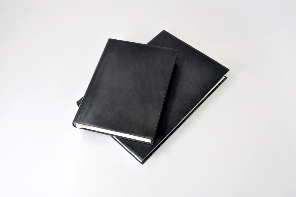 Black Leather Executive Journal-Notebooks-JB Custom Journals