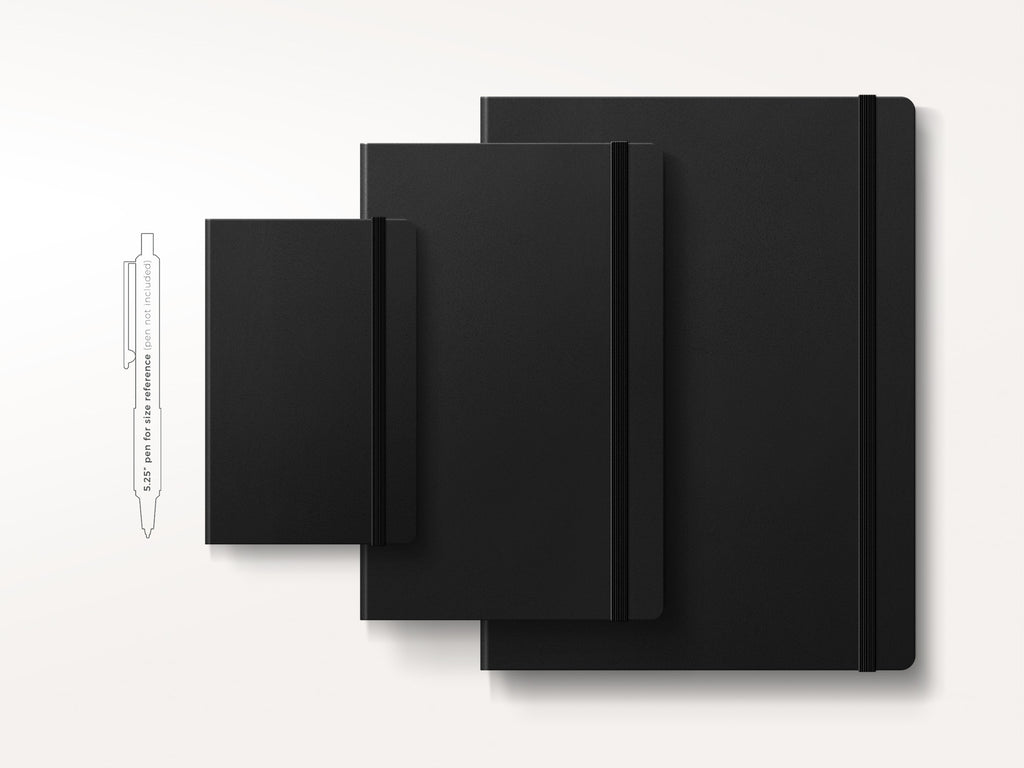 Moleskine Classic Hardcover Notebook - Black-Notebooks-JB Custom Journals